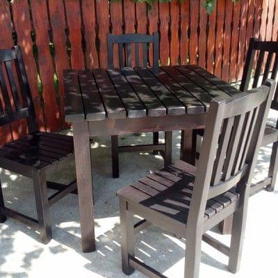 Imaginea principală a produsului Set Rustic 1 (4 scaune)