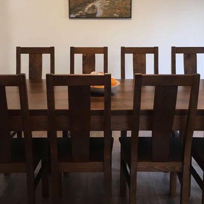 Set modern masă și scaune living